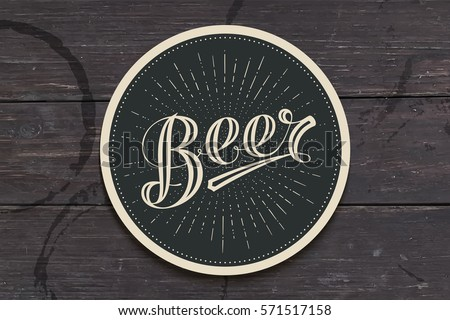 coaster for beer with hand
