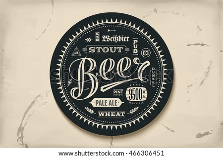 coaster for beer with hand...