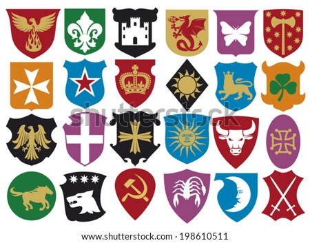 coat of arms collection (set of heraldic elements)