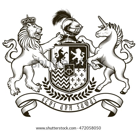 Coat Of Arms Knight Vector Illustration