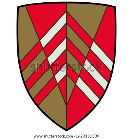 Coat of arms of The Vale of Glamorgan often referred to as The Vale, is a county borough in Wales. Vector illustration
