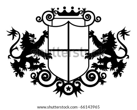 Coat of arms, vector illustration