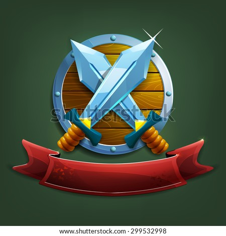 coat of arms with swords and