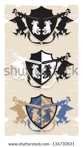 coat of arms with the dragon  3