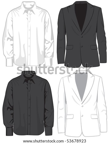 Coats and shirts. Vector