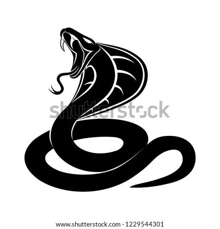 cobra snake sign on a white