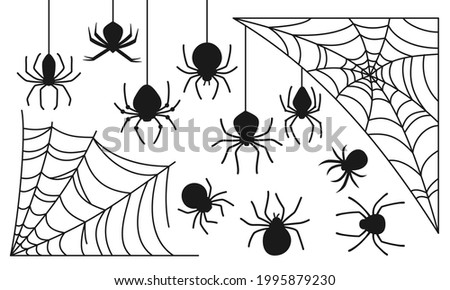 cobweb and spider halloween