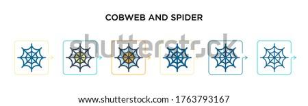 cobweb and spider vector icon