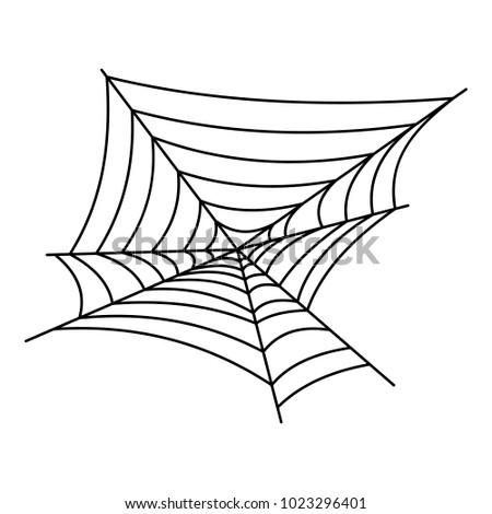Cobweb icon. Outline illustration of cobweb vector icon for web