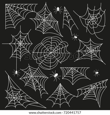 cobweb set spider web halloween