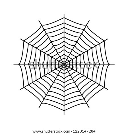 Cobweb. Spider's web. Gossamer. Black and white vector illustration.