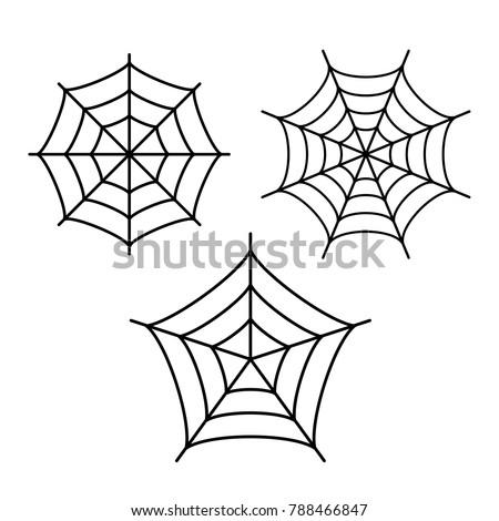 Cobweb vector icon isolated on white background