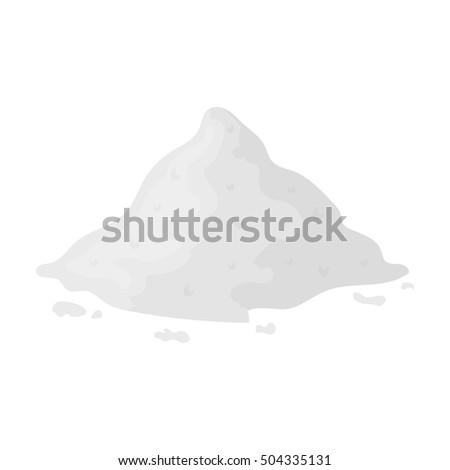 cocain icon in monochrome style