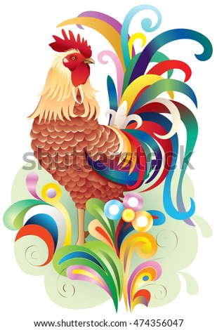 cock; art; chicken; year of the rooster