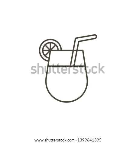 Cocktail, drink vector icon. Simple element illustration from food concept. Cocktail, drink vector icon. Drink concept vector illustration. on white background