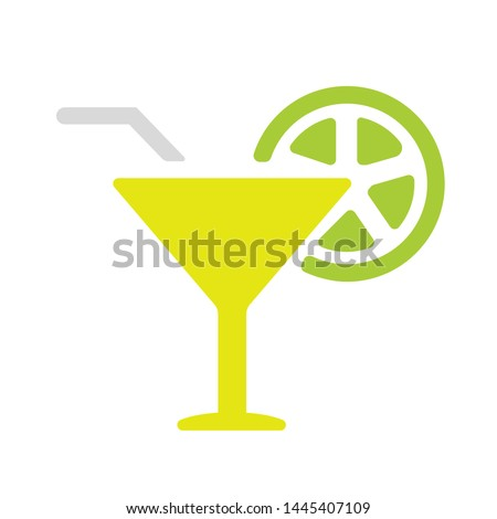 cocktail glass icon - Vector cocktail glass sign - alcohol illustration, cocktail isolated