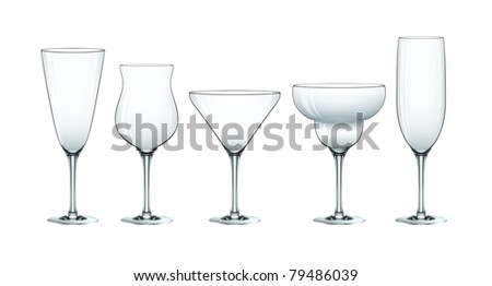 Cocktail glass set eps10