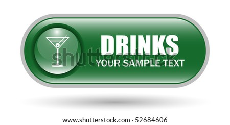 Cocktail Glass Sign Icon with Copy Space