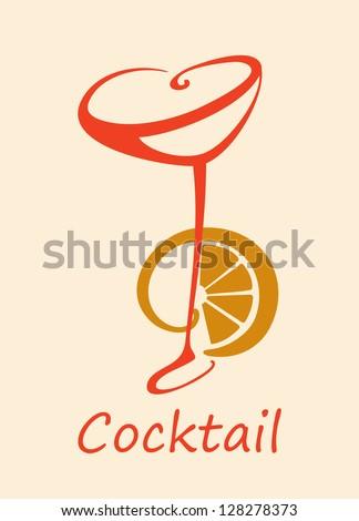Cocktail glasses with lemon