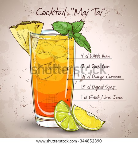 cocktail mai tai with light rum