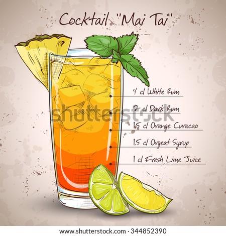 cocktail mai tai with light rum