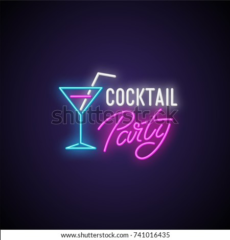cocktail party neon signboard