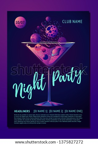 cocktail party poster for a