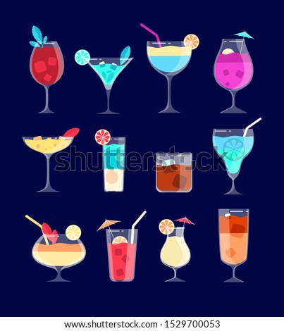 cocktail set iced alcohol