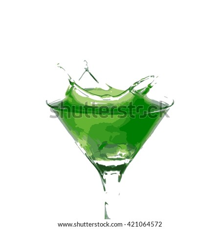 cocktail splash isolated on a