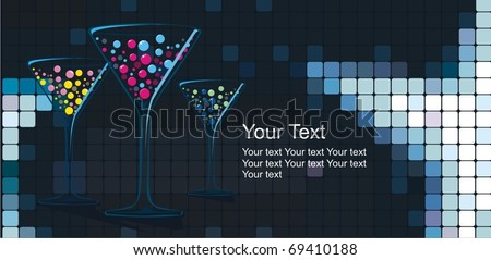 Cocktail vector - stock vector