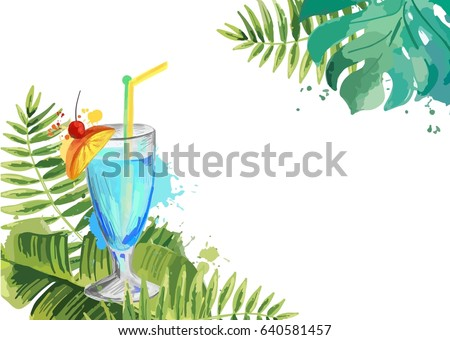 cocktails summer tropical