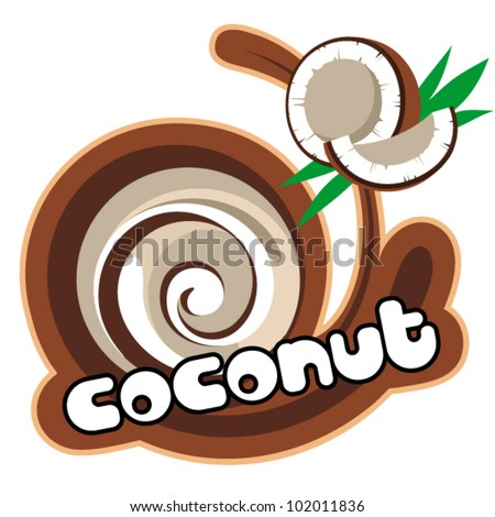 Coconut. Background for design of packing. Vector illustration.