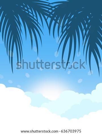 coconut tree and sunrise