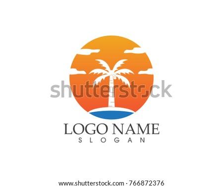 coconut tree logo design template ez canvas