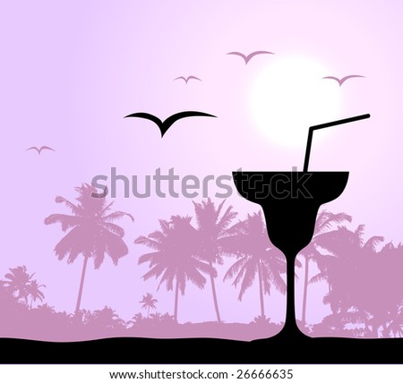 Coctail party on the beach