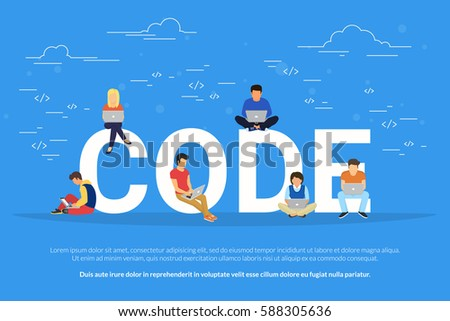 code concept illustration of...