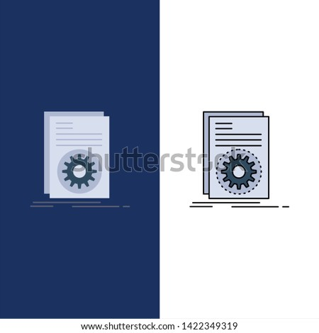 Code, executable, file, running, script Flat Color Icon Vector