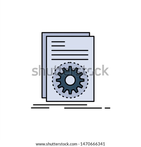 Code, executable, file, running, script Flat Color Icon Vector. Vector Icon Template background