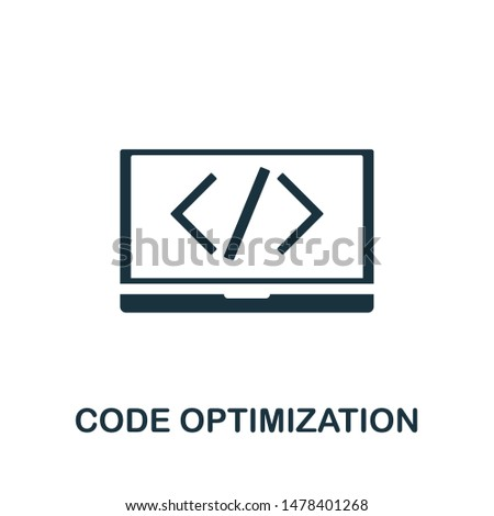 Code Optimization icon vector illustration. Creative sign from seo and development icons collection. Filled flat Code Optimization icon for computer and mobile. Symbol, logo vector graphics.