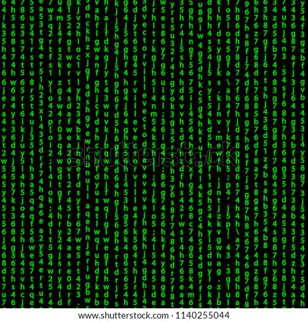 code pattern .  green programming lines of code seamless pattern background . matrix screen effect binary code numbers repeatable tile design