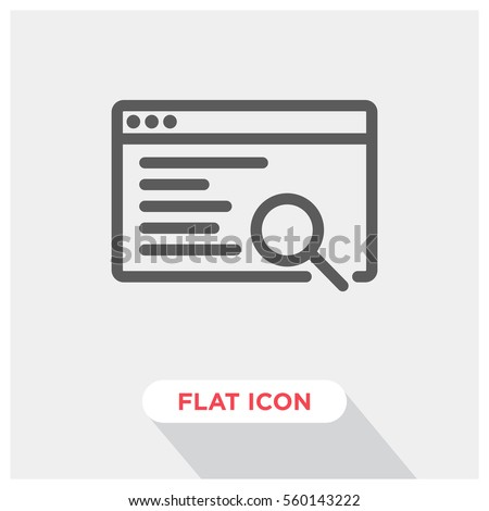 Code research vector icon, search engine symbol. Modern, simple flat vector illustration for web site or mobile app