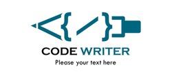 Code writer logo template illustration
