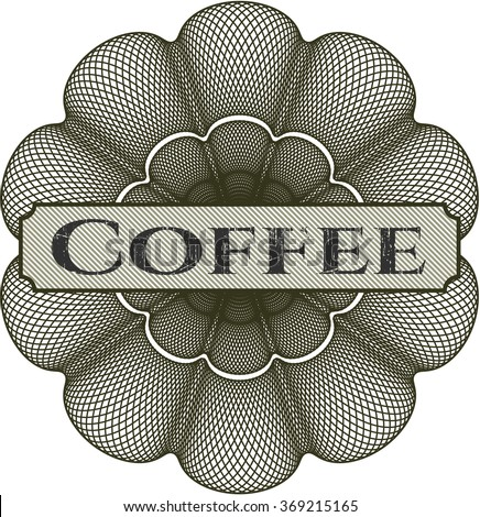 Coffee abstract rosette