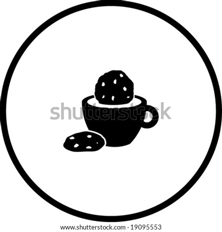 coffee and cookies symbol