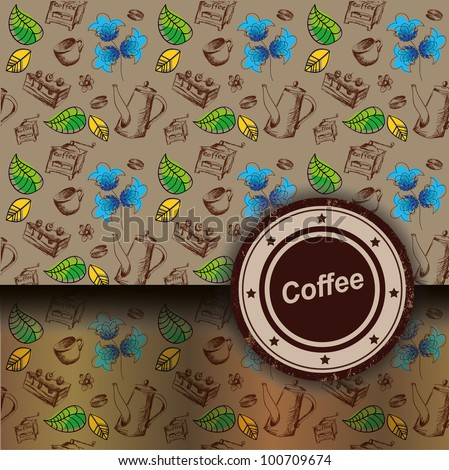 coffee background, envelope, packet, packing. suitable for invitations or packages coffee, confectionery