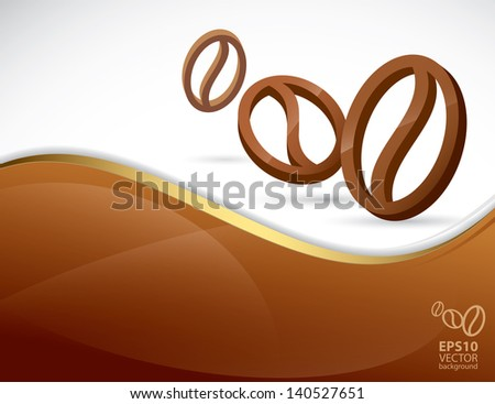 Coffee background - vector illustration