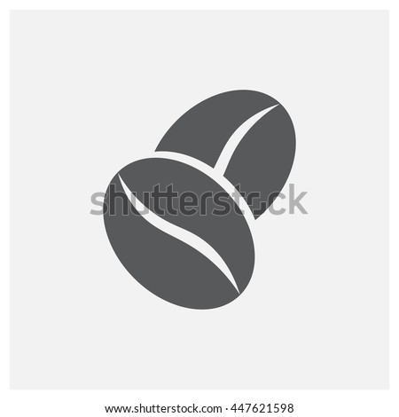 coffee bean icon  vector