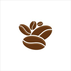Coffee bean vector icon simple and modern flat symbol for web site, mobile, logo, app, UI. Coffee bean icon vector illustration, EPS10.