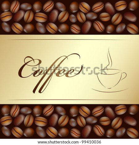 coffee beans cup (EPS 8) background
