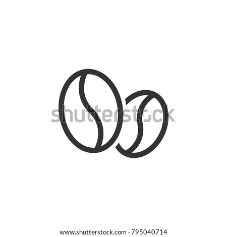 coffee beans icon. caffeine symbol. Flat vector illustration isolated on white background.